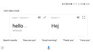 Google Assistant translation