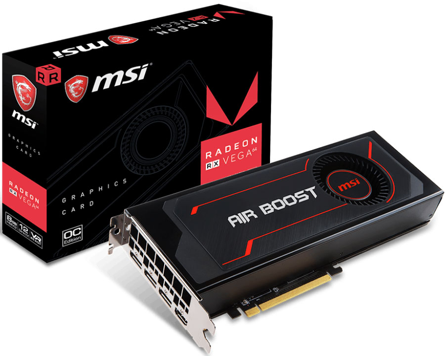 MSI's Radeon RX Vega 64 Air Boost has a bigger exhaust for better cooling
