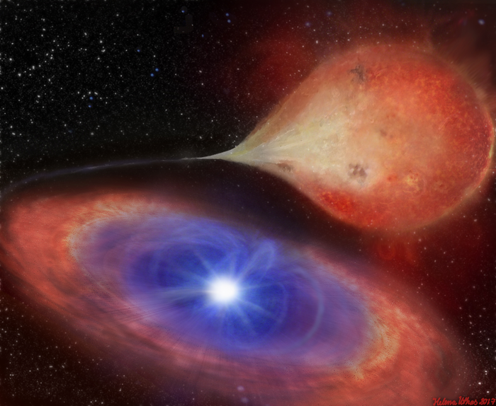 Strange white dwarf switches 'on' and 'off' in front of astronomers