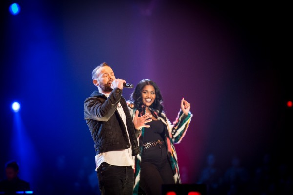 Kevin Simm and Faith Nelson on The Voice