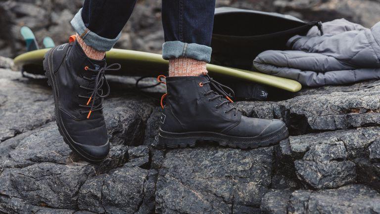 Palladium + Finisterre Pampa-Hi boots