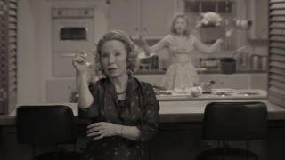 """Debra Jo Rupp as Mrs. Hart in """"WandaVision"""" on Disney+."""