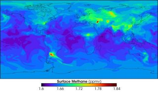 methane gas levels