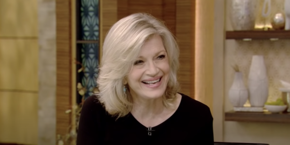 Diane Sawyer on Live! with Kelly and Ryan.