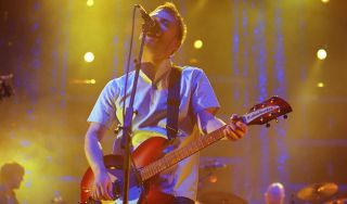 Thom Yorke performs with Radiohead in 2001 in San Francisco