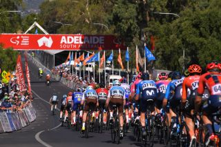 Riders at the 2019 Down Under Classic in Adelaide, South Australia, which in 2020 will host the final round of the National Crit Series during the Tour Down Under