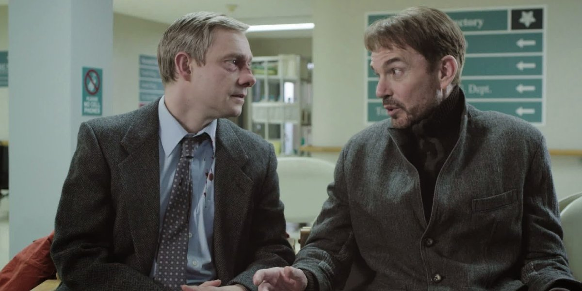 Martin Freeman and Billy Bob Thornton in the first season of Fargo