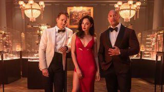 Ryan Reynolds, Gal Gadot and Dwayne Johnson star in Red Notice on Netflix