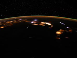 Stunning Lyrids Over Earth at Night
