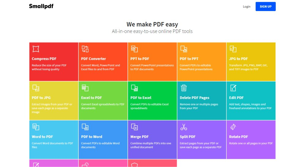 SmallPDF - A versatile tool for a tasty monthly subscription