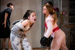 Dotty Cotton is hit by Tiffany Butcher Baker in EastEnders