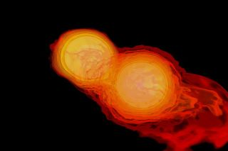 Two Neutron Stars Collide