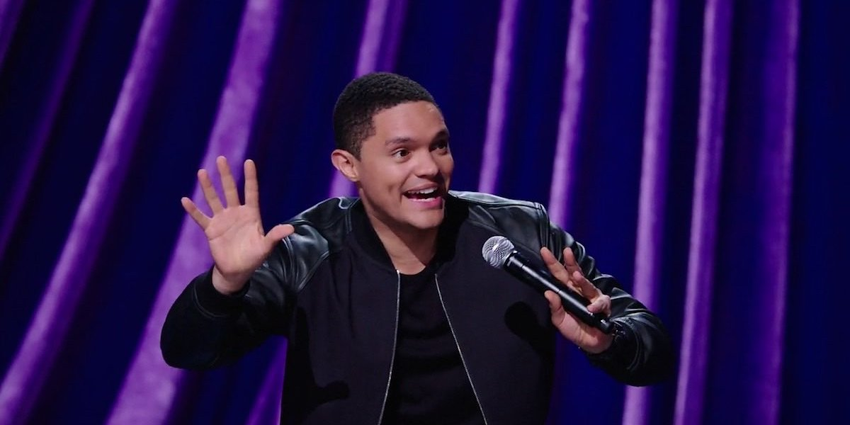 Trevor Noah in his comedy special, Afraid of the Dark, on Netflix.
