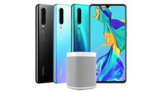 The Huawei P30 with a Sonos One. Image credit: Huawei