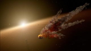 Artist's Concept of Large Impact Around Star NGC 2547-ID8