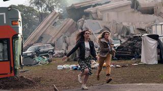 Veroncia St. Clair as Riley Valez and Natalie Zea as Eve Harris in NBC's 'La Brea'