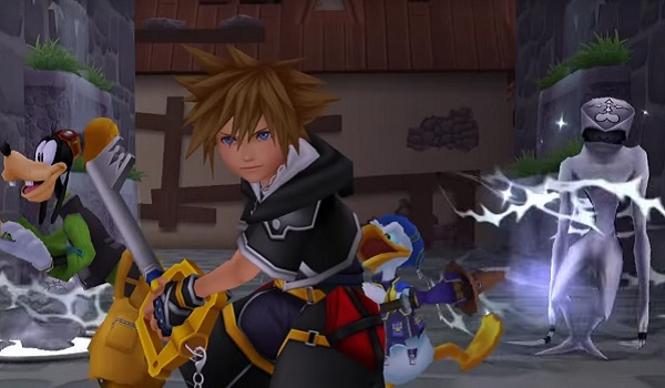 Sora, Goofy and Donald spring into action in Kingdom Hearts
