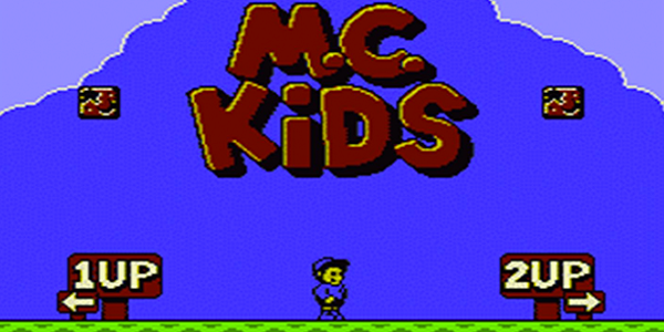 The player select screen from M.C. Kids.