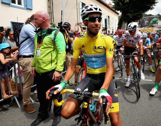 Fabio Aru in the maillot jaune