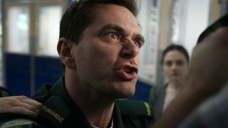 Iain Dean loses his cool with an abusive father in Casualty