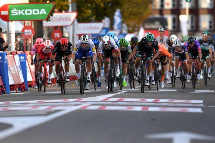 La volata che ha posto termine alla nona tappa della Vuelta (Getty Images Sport)