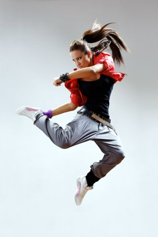 modern dancer on stage