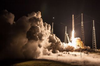 A SpaceX rocket launch