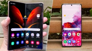 Galaxy Z Fold 2 vs. Galaxy S20 Ultra