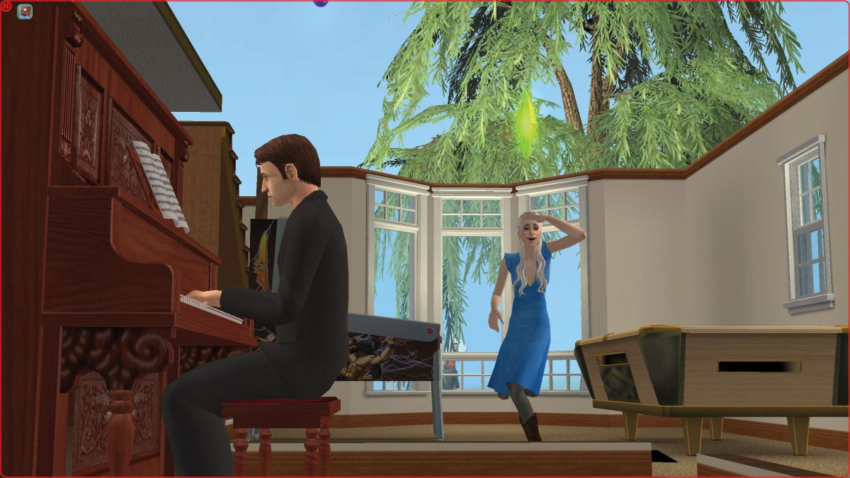 Making your favourites kiss in The Sims