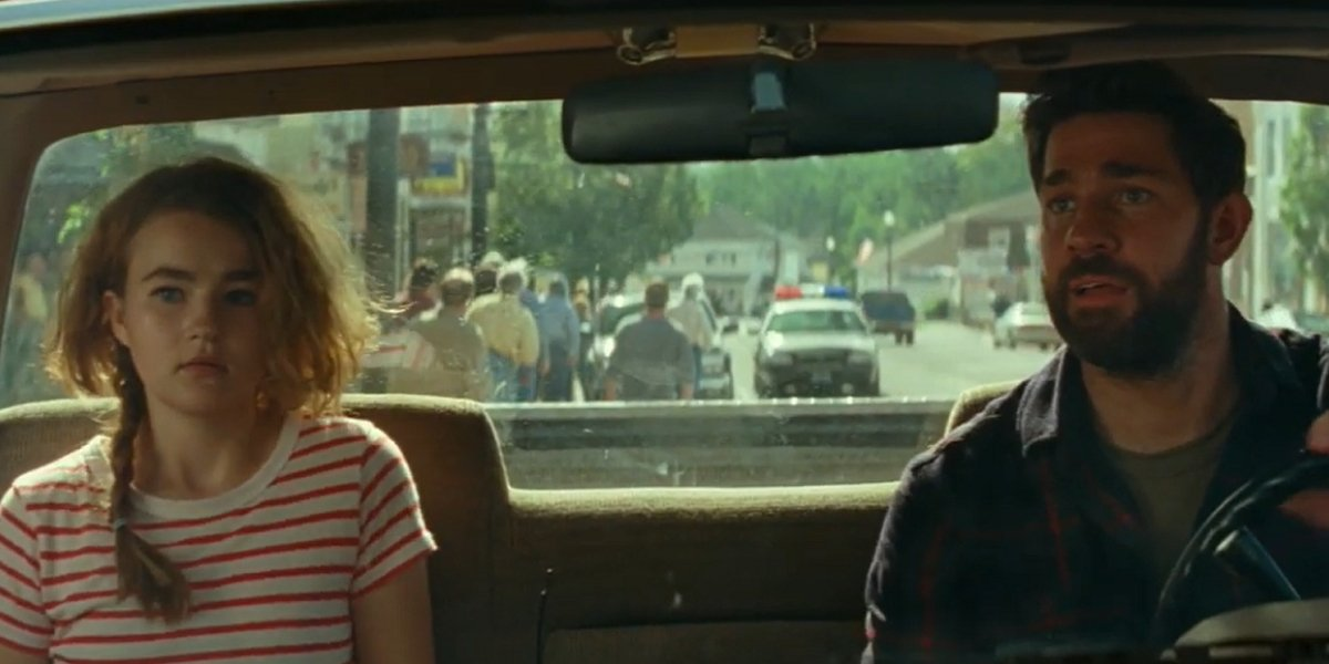 Millicent Simmonds and John Krasinski in A Quiet Place Part II