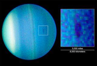 Uranus Has a Dark Spot