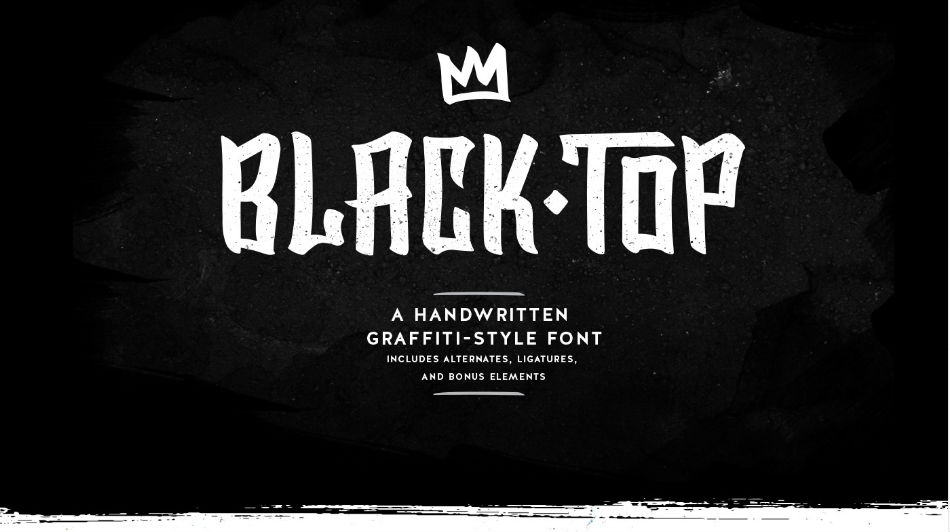 Free graffiti fonts: Black Top