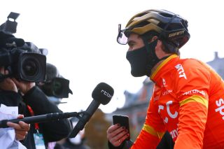 CCC Team's Greg Van Avermaet talks to the press ahead of the 2020 Liège-Bastogne-Liège