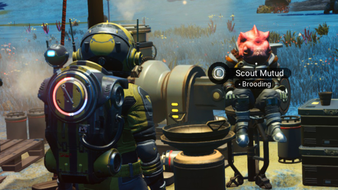 No Man's Sky settlers being sad