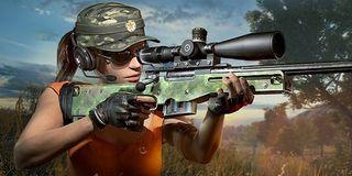 sniper aims in PUBG