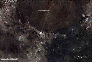 moon map titanium ore