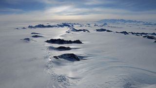 Photo of the Ellsworth Mountains, on transit to Subglacial Lake Ellsworth, December 2012
