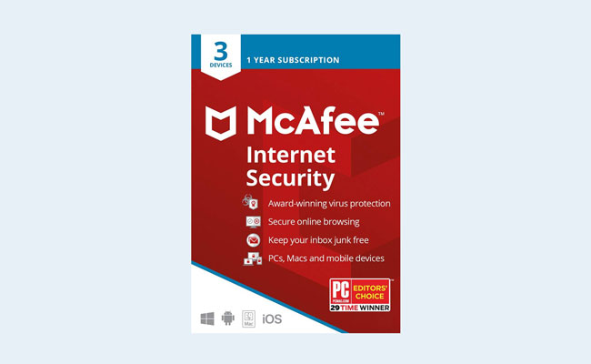 Best antivirus: McAfee Internet Security 2020 Box Art