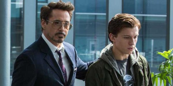 Robert Downey Jr. and Tom Holland in Spider-Man: far From Home