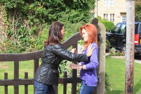 Natasha and Faye get slap happy