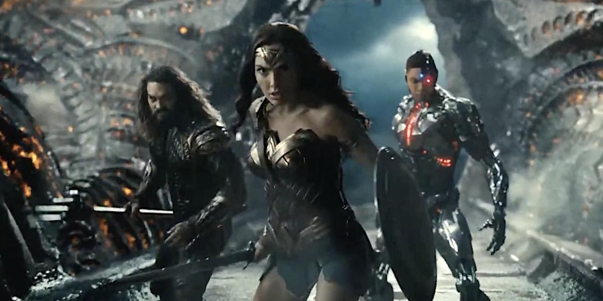 Aquaman, Wonder Woman and Cyborg