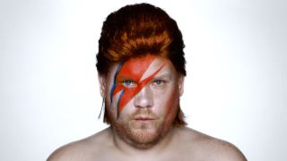 A picture of James Corden as David Bowie