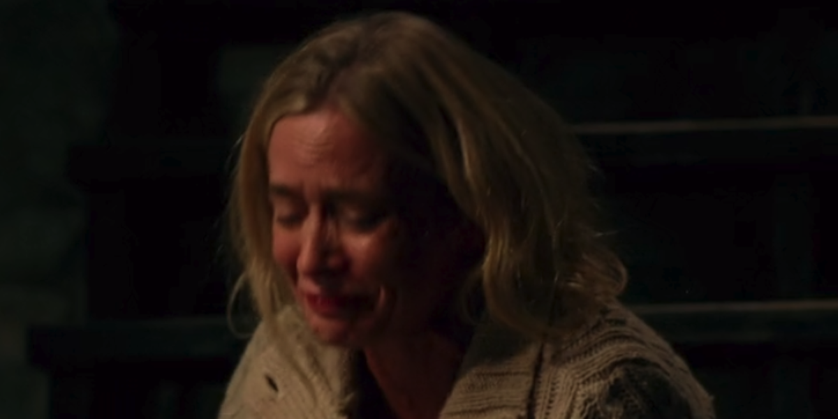 Emily Blunt stepping on a nail in A Quiet Place