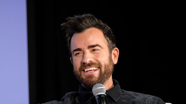 "NEW YORK, NY - MAY 20: Actor Justin Theroux speaks onstage during ""Getting Curious With Jonathan Van Ness Live"" at Day Two of the Vulture Festival Presented By AT&T at Milk Studios on May 20, 2018 in New York City. (Photo by Bryan Bedder/Getty Images for Vulture Festival)"
