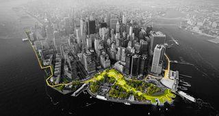Rebuilding plans for Lower Manhattan, Sandy, hurricane