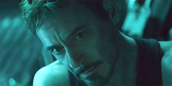 Robert Downey Jr. as Tony Stark Iron Man Avengers Endgame trailer MCU Marvel
