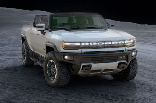 "The GMC Hummer EV Edition 1 comes with a white exterior and ""Lunar Horizon"" interior inspired by the Apollo 11 moonshot."