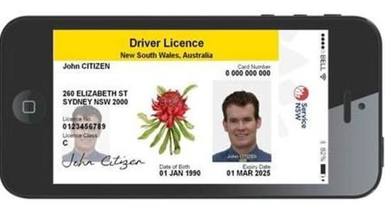 NSW digital driver's licence
