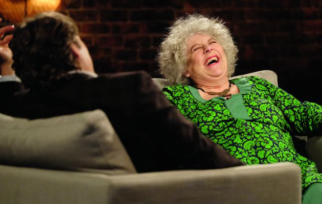John Bishop ends his series by talking to chat-show catnip Miriam Margolyes