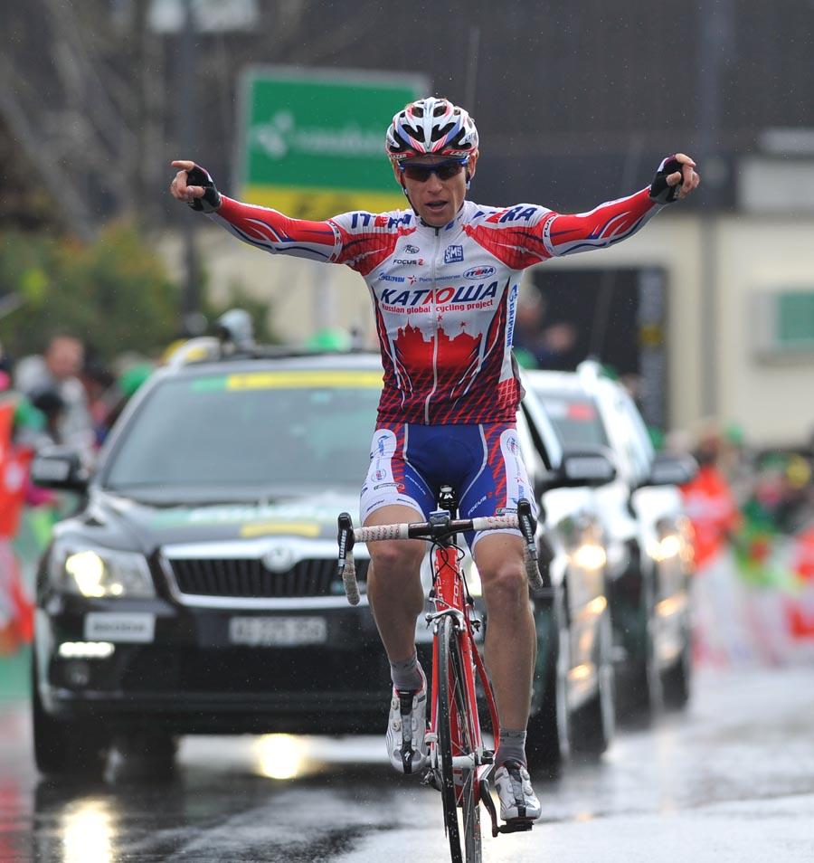 Pavel Brutt wins, Tour de Romandie 2011, stage one